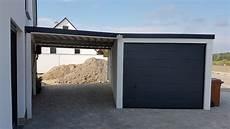 Garage An Garage Anbauen by Einzelgarage Mit Sektionaltor Und Anbau Carport
