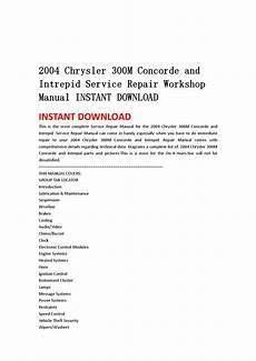 chrysler 300m service repair manual download info service manuals 2004 chrysler 300m concorde and intrepid service repair workshop manual instant download by