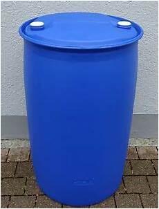 Regenfässer Aus Kunststoff - fass tonne wasserfass regenwasserfass spundfass 200 l blau