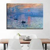 Impression Sunrise By Claude Monet Canvas Wall Art Print