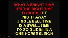 jingle bells swing and jingle bells ring bobby helms jingle bell rock karaoke