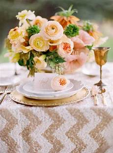 peaches and gold wedding theme