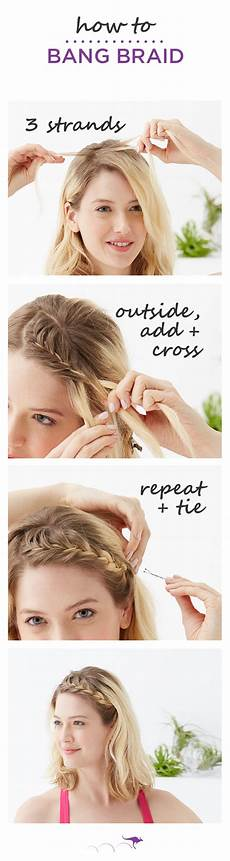 how to braid ideal for short hair or bangs keep hair out of your face during yoga spin