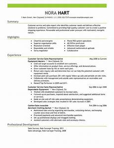 resume objective sales customer service customer service