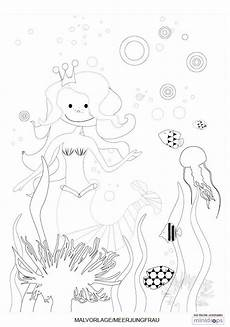 Meerjungfrauen Malvorlagen Gratis Meerjungfrau Malvorlage Kostenlos Ausdrucken Malvorlagen