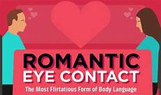 romantic eye contact the most flirtatious form of body language infographic visualistan