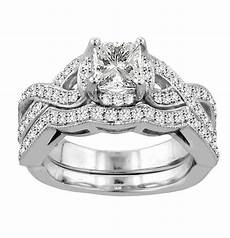 1 40 pave braided princess cut diamond engagement wedding ring in white gold ebay