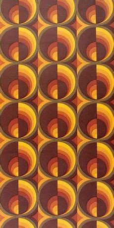 Retrotapete 70er Jahre Tapete Kreisdesign Vlies Breit