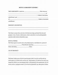 Simple Rental Agreement Generic Edit Fill Sign
