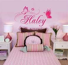 Personalised Name Stickers For Walls personalized name butterflies vinyl wall decal sticker