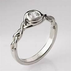 braided engagement ring no 5 14k white gold and diamond