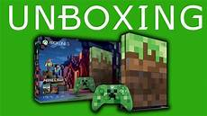 Unboxing Xbox One S Minecraft Collector Edition Fr