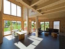 Moderner Holzblockbau Blockhaus Haselhof