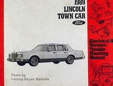 electric and cars manual 1993 lincoln town car user handbook 1989 lincoln town car electrical vacuum troubleshooting manual original ford factory