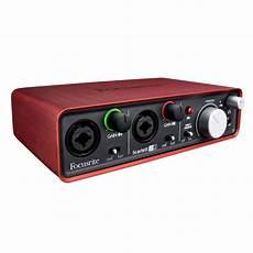 focusrite 2i2 focusrite 2i2 usb audio interface at gear4music