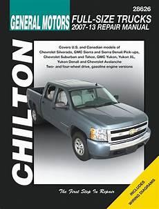 best car repair manuals 1994 chevrolet 2500 electronic toll collection silverado tahoe sierra yukon denali repair manual 2007 2013