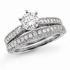 1 1 2 ct t w diamond vintage style bridal in 14k white gold oh my god seriously beautiful