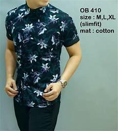 jual batik kemeja slimfit pria keren baju batik cowok