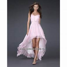 vokuhila kleid abendkleid vorne kurz hinten lang in rosa