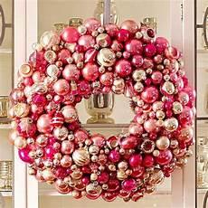 türkranz weihnachten kugeln rosa kugel sch 246 ne weihnachtsdeko kranz selber machen