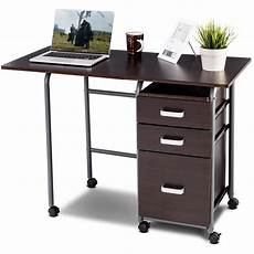 walmart home office furniture gymax folding computer laptop desk wheeled home office