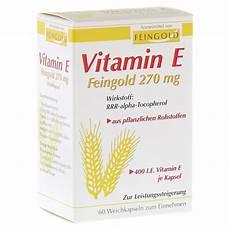vitamin e feingold 270 mg weichkapseln 60 st 252 ck