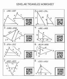 geometry worksheets similar triangles 888 teaching high school math similar triangles worksheet with qr codes free