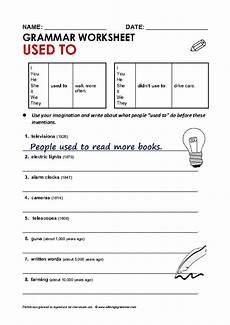 grammar worksheet used to