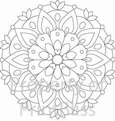 blumen mandala 2 flower mandala printable coloring page