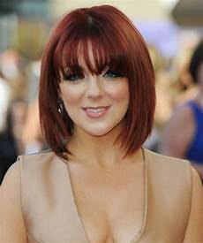 splendid red bob hairstyles with bangs for women to look