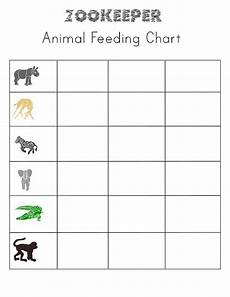 printable zookeeper sheets for pretend play classroom