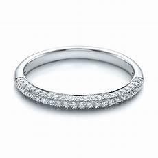 pave set diamond wedding band 100407 seattle bellevue