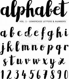 lettere d scritte vector alphabet font isolated ink letters