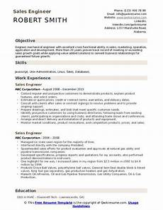 sales engineer resume sles qwikresume