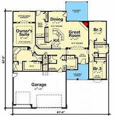 small brick house plans brick house plan with lots of options 42537db