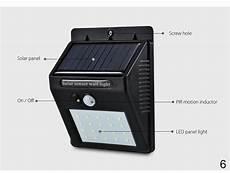 led solar lights motion sensor wall light outdoor waterproof