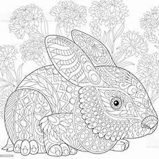stylized baby rabbit stock illustration image
