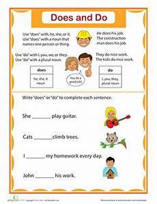 simple verbs does and do worksheet education com
