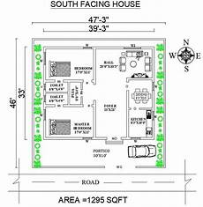 south facing house plan as per vastu shastra cadbull