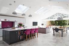 open house plans with large kitchens rear extension open plan living large kitchen island