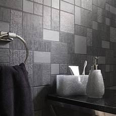 Tapeten Auf Fliesen - black glitter tile wallpaper kitchen and bathroom tiling