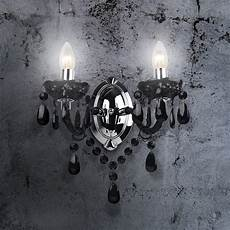 of 2 marie therese 2 lights black chrome wall bracket chandelier lights 714084885131 ebay