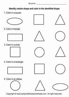 basic shapes worksheets coloring shapes worksheets