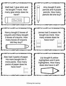 free printable word problem worksheets for 1st grade 11209 diving into learning new freebie for back to school