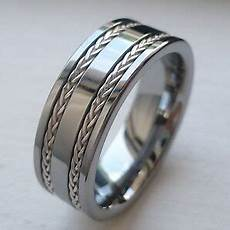 8mm tungsten carbide men s wedding band ring real silver braid size 7 14 ebay