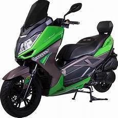 razory alexone maxi scooter 125ccm kawasaki gr 252 n schwarz