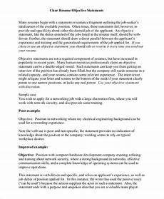 resume objective statements sle resume objective statement 8 exles in pdf