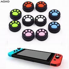 2pcs Anti Slip Silicone Rocker Button by Aoxo 2pcs Cat Paw Anti Slip Silicone Thumb Stick Grip Cap