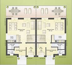 Moderne Doppelhäuser Grundrisse - doppelhaush 228 lfte d95 135 980 ibs haus