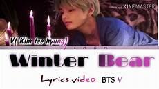 bts v tae hyung winter color coded lyrics